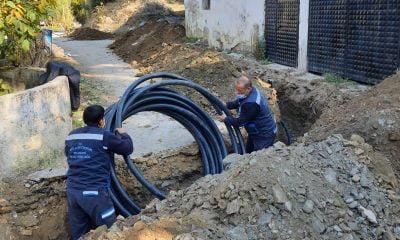 Yatağan Mahallesi'nde içme suyu hattı özel mülkten çıkarıldı